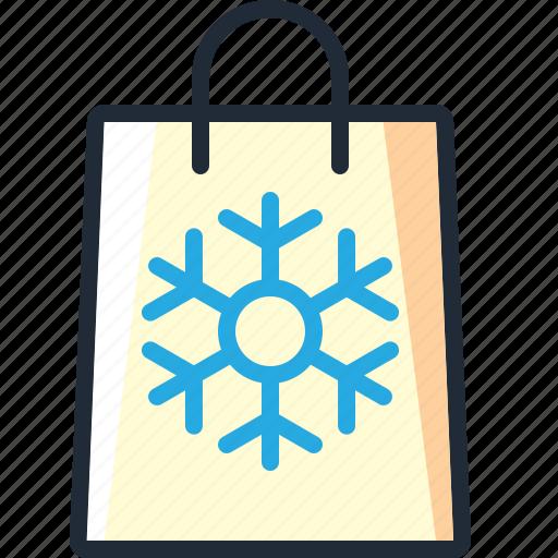 bag, christmas, presents, purchase, shop, shopping, xmas icon