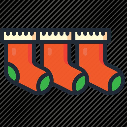 christmas, decoration, fireplace, gifts, socks, stocking, xmas icon