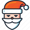 beard, christmas, saint nicholas, saint nick, santa, santa claus, xmas icon