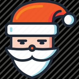 beard, christmas, saint nicholas, saint nick, santa, santa claus, xmas icon