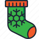 christmas, decoration, fireplace, gifts, socks, stocking, xmas icon