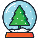 ball, christmas, christmas tree, decoration, snow, snow globe, xmas icon