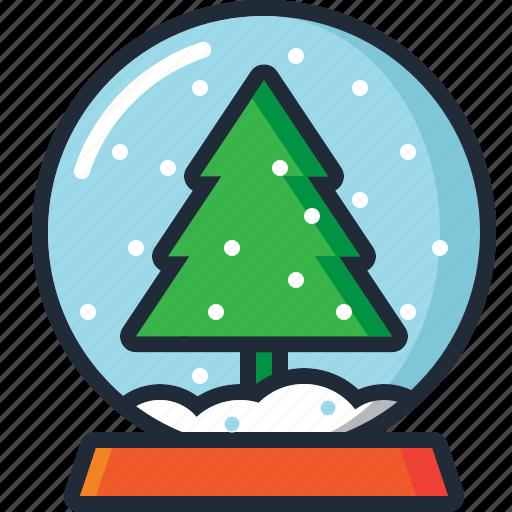ball, christmas, christmas tree, decoration, snow, snow globe, xmas icon