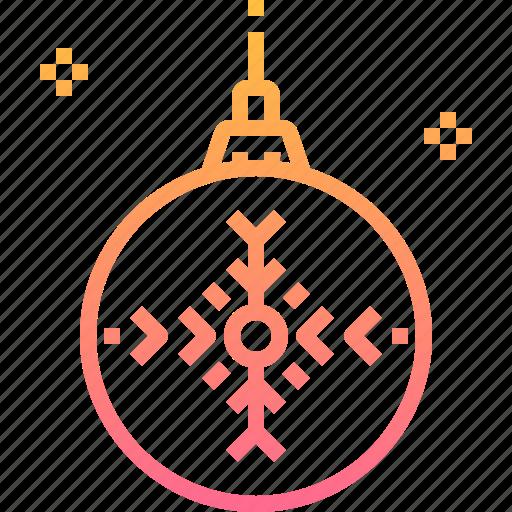 adornment, ball, christmas, decoration, ornaments icon