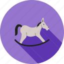 christmas, play, rider, rocking horse, swing, toy, xmas icon