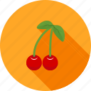 cherries, cherry, christmas, food, fruit, sweet icon