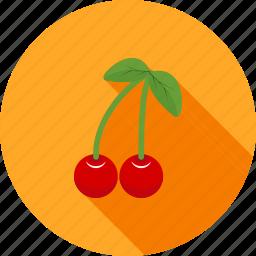cherries, cherry, christmas, food, fruit, sweet icon