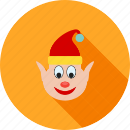 celebration, christmas, elf, hat, santa, santa claus, xmas icon