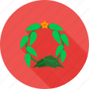 christmas, decoration, flowers, roses, wreath, xmas decoration icon