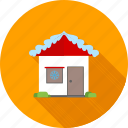 christmas, christmas house, decoration, home, house, snow, xmas icon