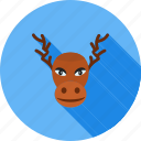 animal, decoration, home decoration, hornes, moose, wild animal, xmas icon