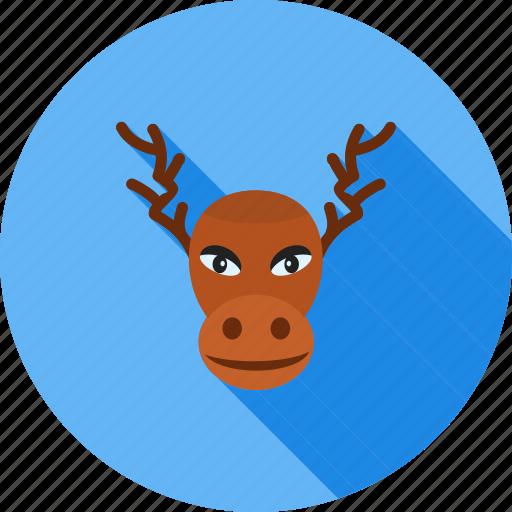 animal, decoration, home decoration, hornes, moose, wild animal, xmas icon