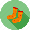 foot, socks, stockings, warm socks, winter icon