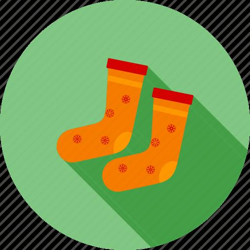 foot, socks, stockings, warm socks, winter icon