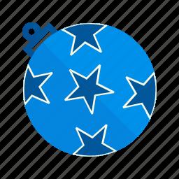 ball, christmas, decoration, gift, ornament, stars, xmas icon