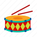 celebration, concert, drum, drums, instrument, music, sticks icon