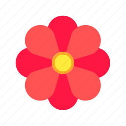 bloom, decoration, flower, leaves, petals, plant, rose icon