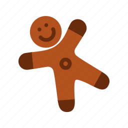 biscuit, bread, christmas, cookie, ginger, xmas icon