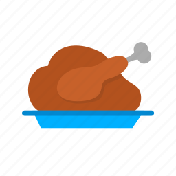 chicken, food, grill, roast, roasted chicken, roasted turkey, turkey icon
