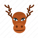 decoration, home decoration, hornes, moose, portrait, xmas icon