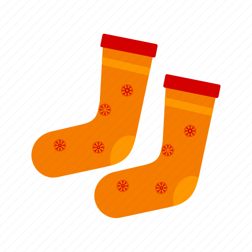 christmas stocking, clothe, foot, sock, socks, winter icon