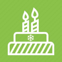 birthday, cake, celebration, christmas, party, sweet, xmas icon