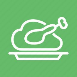 chicken, food, grill, roast, roasted chicken, roasted turkey, turkey icon
