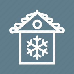 christmas house, decoration, house, party, xmas icon