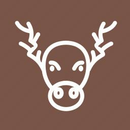 decoration, home decoration, hornes, moose, portrait, xmas icon