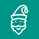 christmas hat, hat, merry christmas, santa, santa claus, santa hat, winter icon