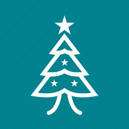 christmas, christmas tree, decoration, new year, snow, winter, xmas icon