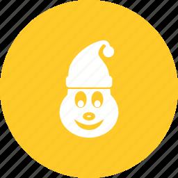 celebration, christmas, elf, hat, santa, santa claus, xmas icon