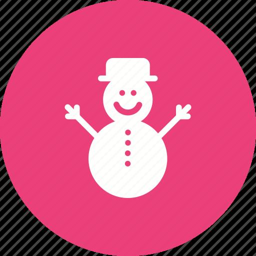 christmas, december, ice, snow, snow man, winter, xmas icon
