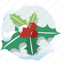 christmas decorations, favorite, holly, leaf, mistletoe, wreath, xmas icon
