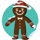baked man, christmas, cookie, gingerbread, decoration, gift, cake
