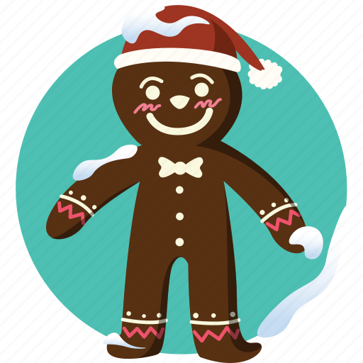 baked man, cake, christmas, cookie, decoration, gift, gingerbread icon