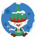 christmas, cloud, decoration, elf, forecast, weather, winter icon