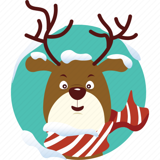 christmas, deer, doll, reindeer, rudolph, toy, xmas icon