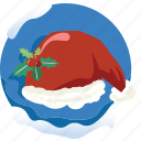 accesory, christmas, cloth, hair, hat, head, santa icon
