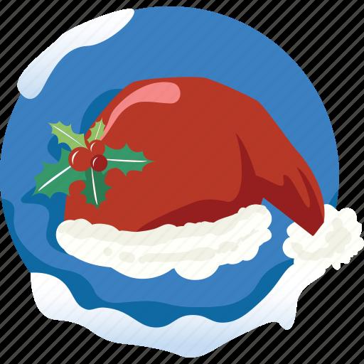 accesory, christmas, cloth, hair, hat, head, santa icon
