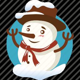 christmas, doll, snow, snowman, toy, winter, xmas icon