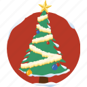 christmas tree, decoration, snow, star, tree, winter, xmas icon