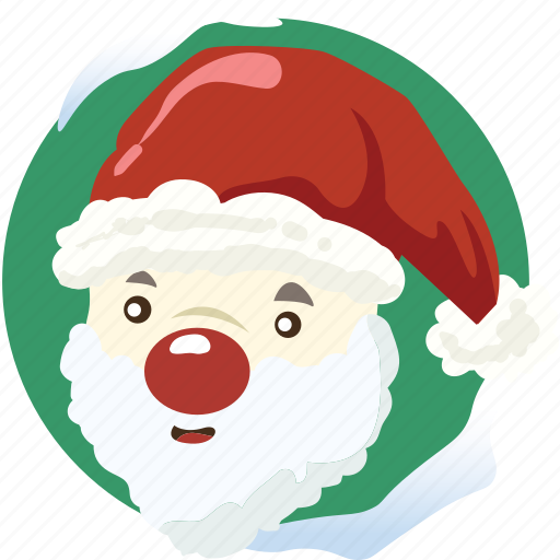 christmas, decoration, red hat, santa claus, snow, snowman, xmas icon