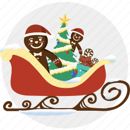 car, chilren, christmas, cloudy, cookie, sled, toy icon