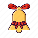 bell, christmas, decoration, ribbon, xmas icon