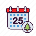 calendar, christmas, date, holiday, winter, xmas icon