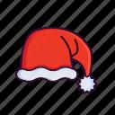 christmas, hat, head, santa, winter, xmas