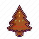 chocolate, christmas, cookie, gingerbeard, tree icon