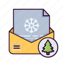 card, christmas, gretings, letter, xmas icon