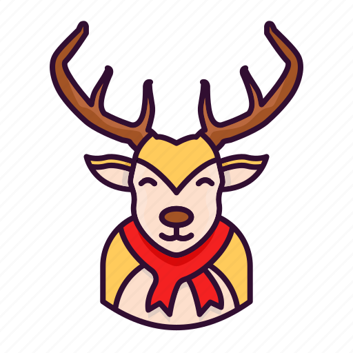 christmas, deer, reindeer, rudolph, winter, xmas icon
